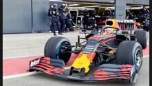 Silverstone, Verstappen alla guida della RB15