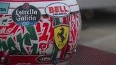 GP Emilia Romagna, Leclerc presenta il casco:
