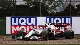 GP Emilia Romagna, penalizzato Raikkonen: posizione errata alla ripartenza