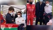 Leclerc con Alesi e Arnoux al Grand Prix Monaco Historique