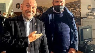 Max Rendina sul set della nuova serie tv con Maurizio Battista