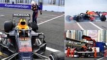 GP Azerbaijan: l'incidente di Verstappen ferma la gara a 5 giri dalla fine