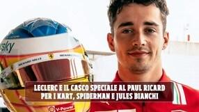 Leclerc, casco speciale al GP di Francia: in ricordo di Bianchi e delle prime gare coi kart