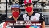 Giovinazzi e Alonso: cambio di caschi in F1 per Italia-Spagna