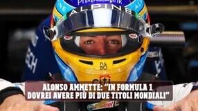 """F1, Alonso si sfoga: """"Avrei potuto vincere 5 o 6 titoli iridati, ma…"""""""