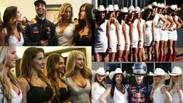 Vettel e Ricciardo, che nostalgia per le sexy grid girls in F1!